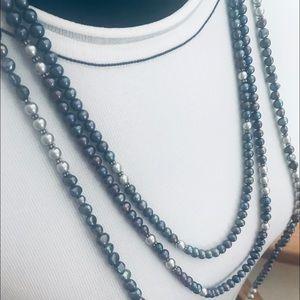 Jewelry - Long Strands -Genuine Peacock Pearls & Bali Silver